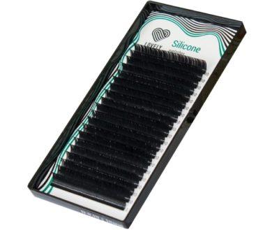 Ресницы черные Lovely Silicone одна длина-2